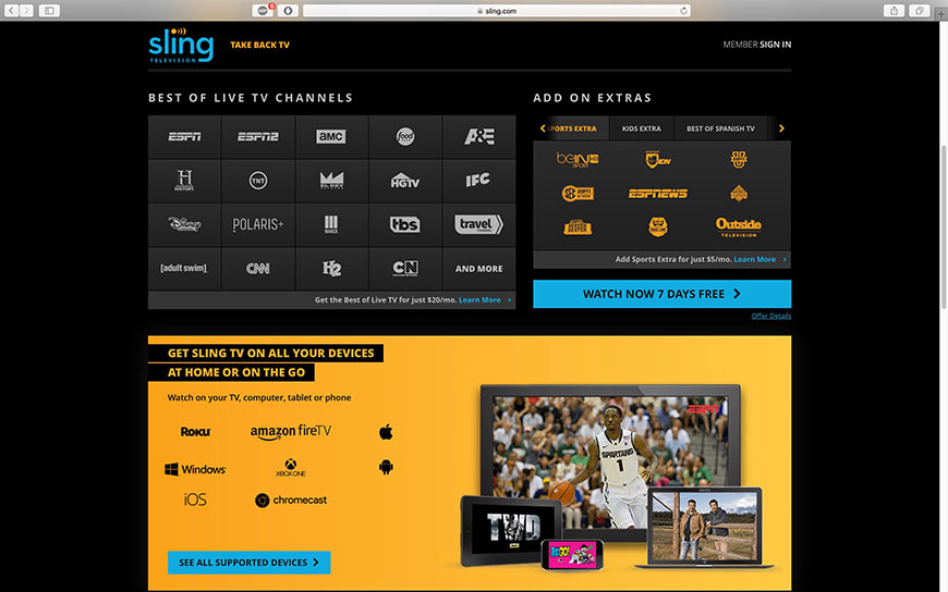 Sling Tv | Cord Cutters Club